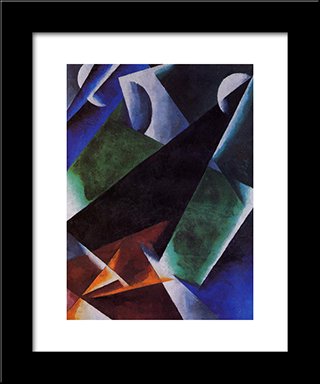 Painterly-Architectonic: Modern Black Framed Art Print by Lyubov Popova