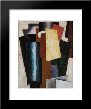 Portrait: Modern Black Framed Art Print by Lyubov Popova
