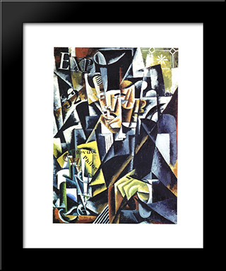 Portrait Of A Philosopher: Modern Black Framed Art Print by Lyubov Popova