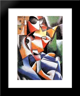 Relief: Modern Black Framed Art Print by Lyubov Popova
