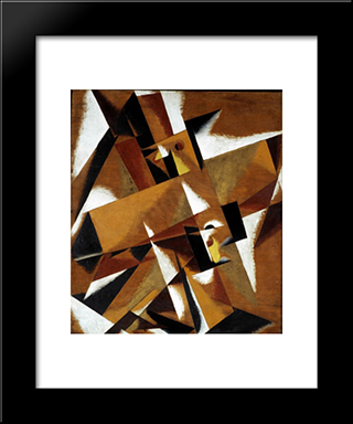 Space Force Construction: Modern Black Framed Art Print by Lyubov Popova