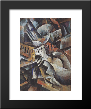 Still Life With Guitar: Custom Black Wood Framed Art Print by Lyubov Popova