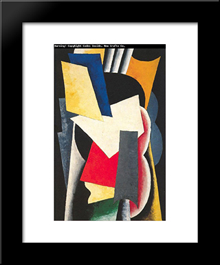 Still Life With Instruments: Modern Black Framed Art Print by Lyubov Popova