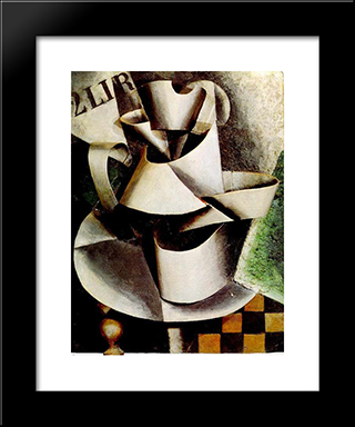 The Jug On The Table: Modern Black Framed Art Print by Lyubov Popova