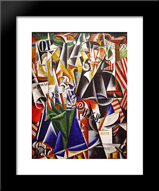 The Traveler: Modern Black Framed Art Print by Lyubov Popova