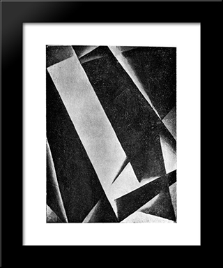 Untitled: Modern Black Framed Art Print by Lyubov Popova