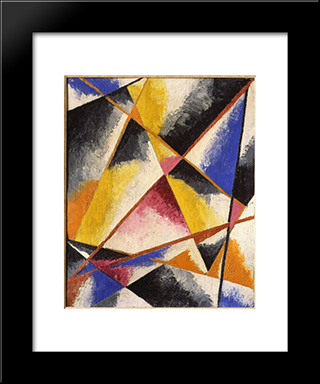 Untitled Compositions: Modern Black Framed Art Print by Lyubov Popova