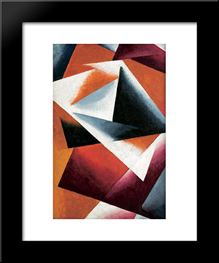 With Full Force: Modern Black Framed Art Print by Lyubov Popova
