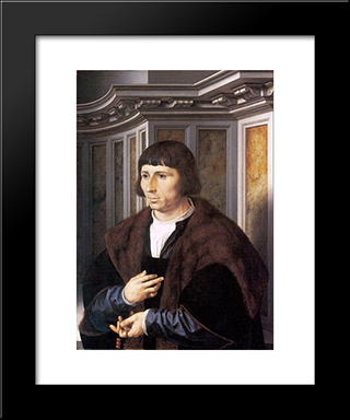 A Man With A Rosary: Modern Black Framed Art Print by Mabuse