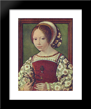 A Young Princess (Dorothea Of Denmark0): Modern Black Framed Art Print by Mabuse