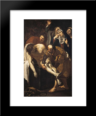 Descent From The Cross: Modern Black Framed Art Print by Mabuse