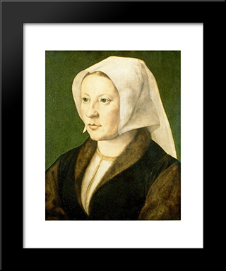 Portrait Of A Young Woman: Modern Black Framed Art Print by Mabuse