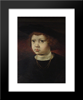 Prince Hans Of Denmark, Norway And Sweden: Modern Black Framed Art Print by Mabuse