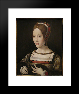 Queen Eleanor Of Austria: Modern Black Framed Art Print by Mabuse