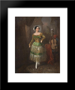 Lady Of Sevilla: Modern Black Framed Art Print by Manuel Rodriguez de Guzman