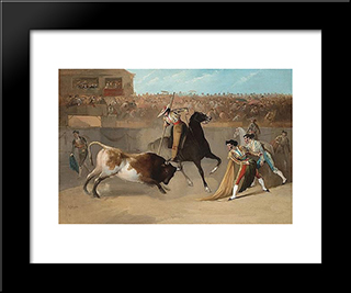 The Picador: Modern Black Framed Art Print by Manuel Rodriguez de Guzman