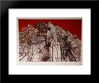 Alpille Rouge: Modern Black Framed Art Print by Mario Prassinos