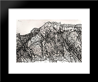 Alpilles, Mp309: Modern Black Framed Art Print by Mario Prassinos