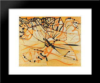 Alpilles Orange: Modern Black Framed Art Print by Mario Prassinos