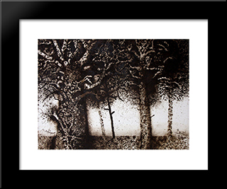 Arbres: Modern Black Framed Art Print by Mario Prassinos