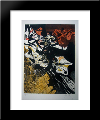 Automne: Modern Black Framed Art Print by Mario Prassinos