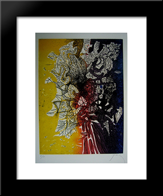 Bouquet: Modern Black Framed Art Print by Mario Prassinos