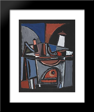 Cuisiniere: Modern Black Framed Art Print by Mario Prassinos