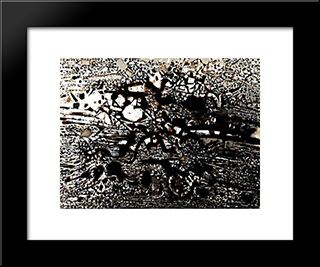 Eygalieres: Modern Black Framed Art Print by Mario Prassinos