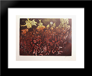 Jardin Couchant: Modern Black Framed Art Print by Mario Prassinos