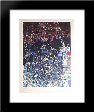 La Nuit De L'Eau: Modern Black Framed Art Print by Mario Prassinos