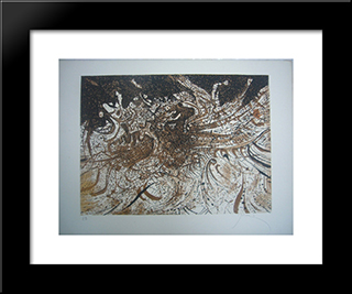 La Vague: Modern Black Framed Art Print by Mario Prassinos
