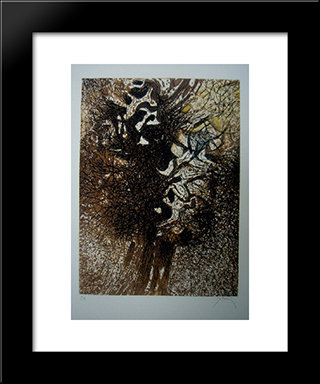 L'Arbre: Modern Black Framed Art Print by Mario Prassinos