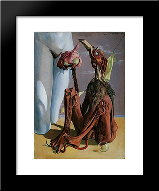 Le Mort De Don Juan: Modern Black Framed Art Print by Mario Prassinos