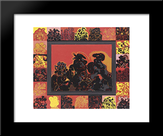 Minautaure: Modern Black Framed Art Print by Mario Prassinos
