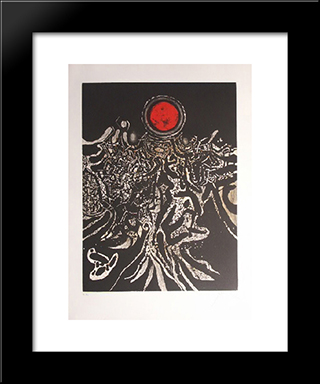 Nuit Marine: Modern Black Framed Art Print by Mario Prassinos