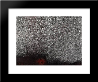 Paysage Turc: Modern Black Framed Art Print by Mario Prassinos
