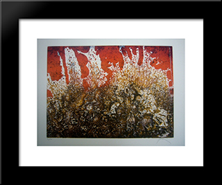 Vagues: Modern Black Framed Art Print by Mario Prassinos