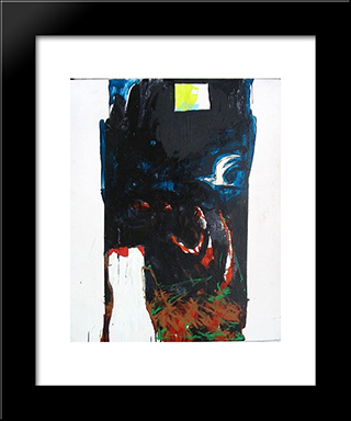 Nottetempo: Modern Black Framed Art Print by Mario Schifano