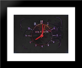 The Exact Time: Modern Black Framed Art Print by Mario Schifano