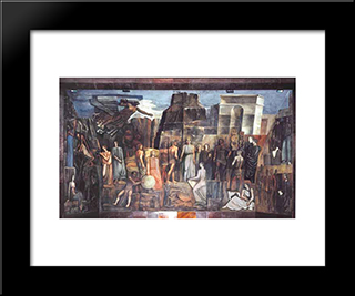 Italy In The Arts: Modern Black Framed Art Print by Mario Sironi