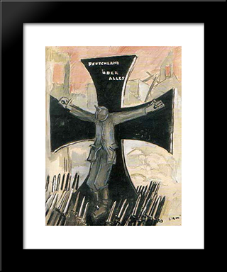 The End Of A Pirate Of The Twentieth Century: Modern Black Framed Art Print by Mario Sironi