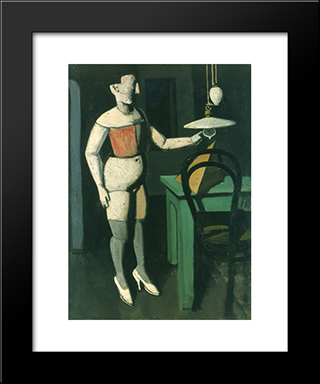 The Lamp: Modern Black Framed Art Print by Mario Sironi