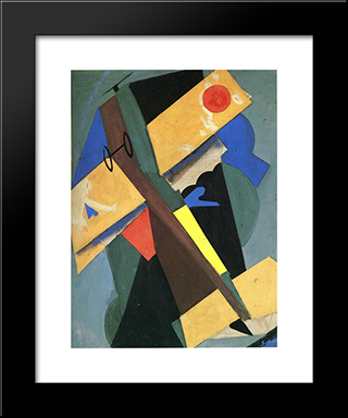 The Plane: Modern Black Framed Art Print by Mario Sironi