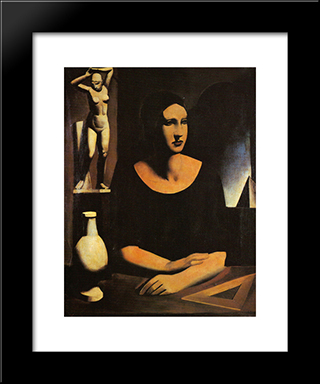 The Student: Modern Black Framed Art Print by Mario Sironi