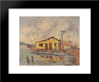 Beira - Mar: Modern Black Framed Art Print by Mario Zanini