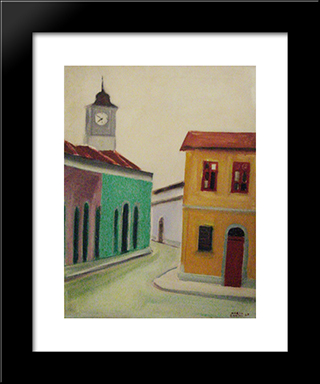 Casario: Modern Black Framed Art Print by Mario Zanini