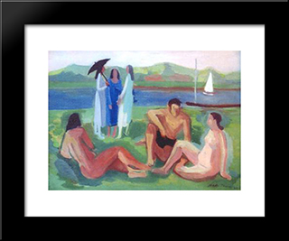 Figuras No Tiete: Modern Black Framed Art Print by Mario Zanini