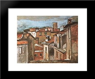 Lerici: Modern Black Framed Art Print by Mario Zanini
