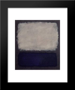 Blue And Gray: Modern Black Framed Art Print by Mark Rothko