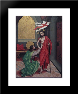 Altar (Of Omgeving): Modern Black Framed Art Print by Martin Schongauer